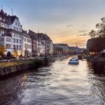 Boat On River, Strasbourg, France
